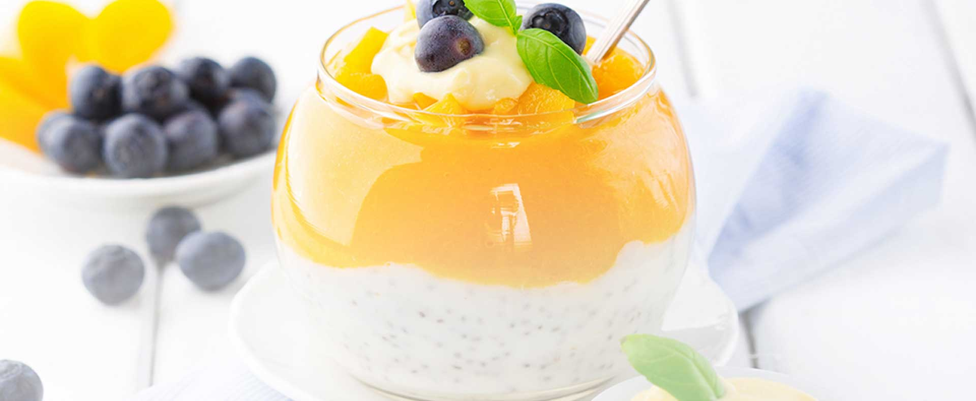 Photo of - Smooth Blueberry Ginger Peach Parfait