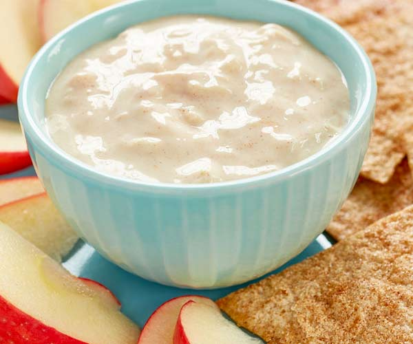 Photo of - Caramel Apple Dip with Spice Tortilla Chips