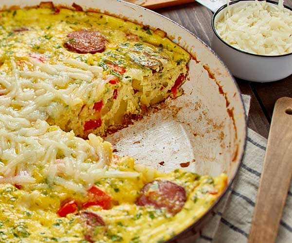 Photo of - Chorizo and Red Pepper Frittata