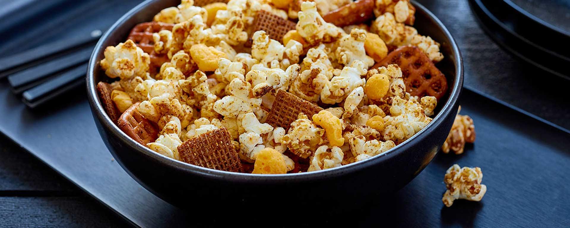 Photo for - Crunchy Cheddar Popcorn Mix