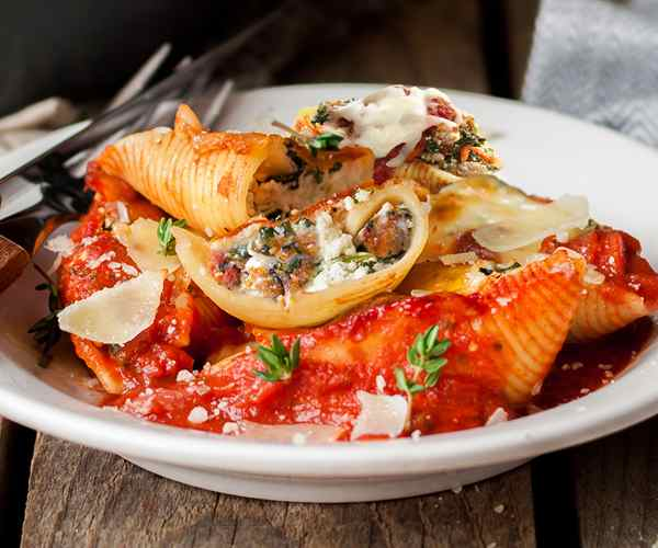 Photo of - Cheesy Kale and Sausage Stuffed Shells