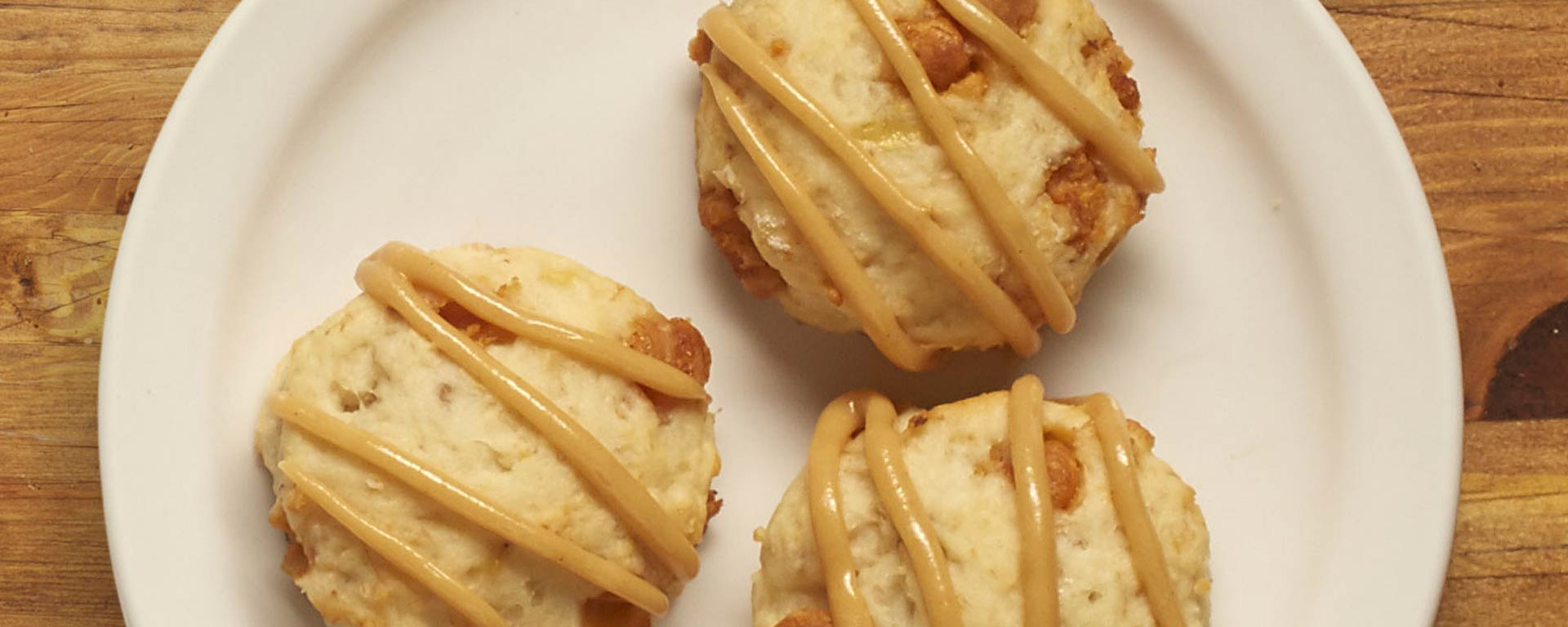 Photo of - PB & Banana Biscuits