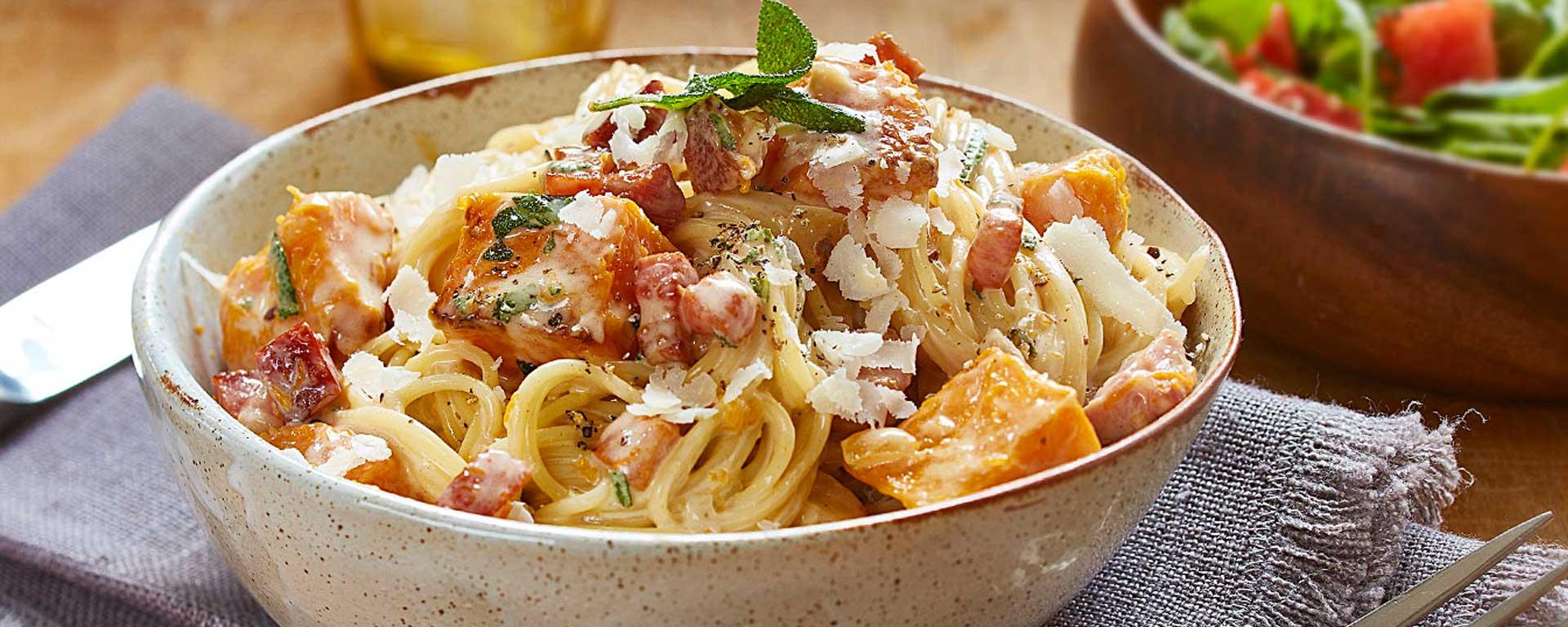 Photo for - Smokey Bacon, Squash and Sage Pasta