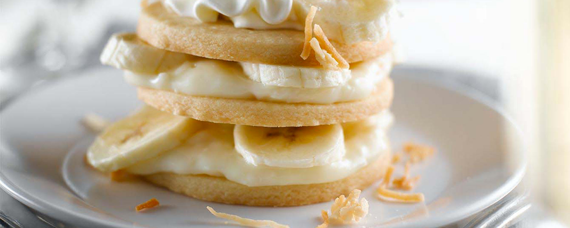 Photo for - Banana Coconut Shortbread Stacks