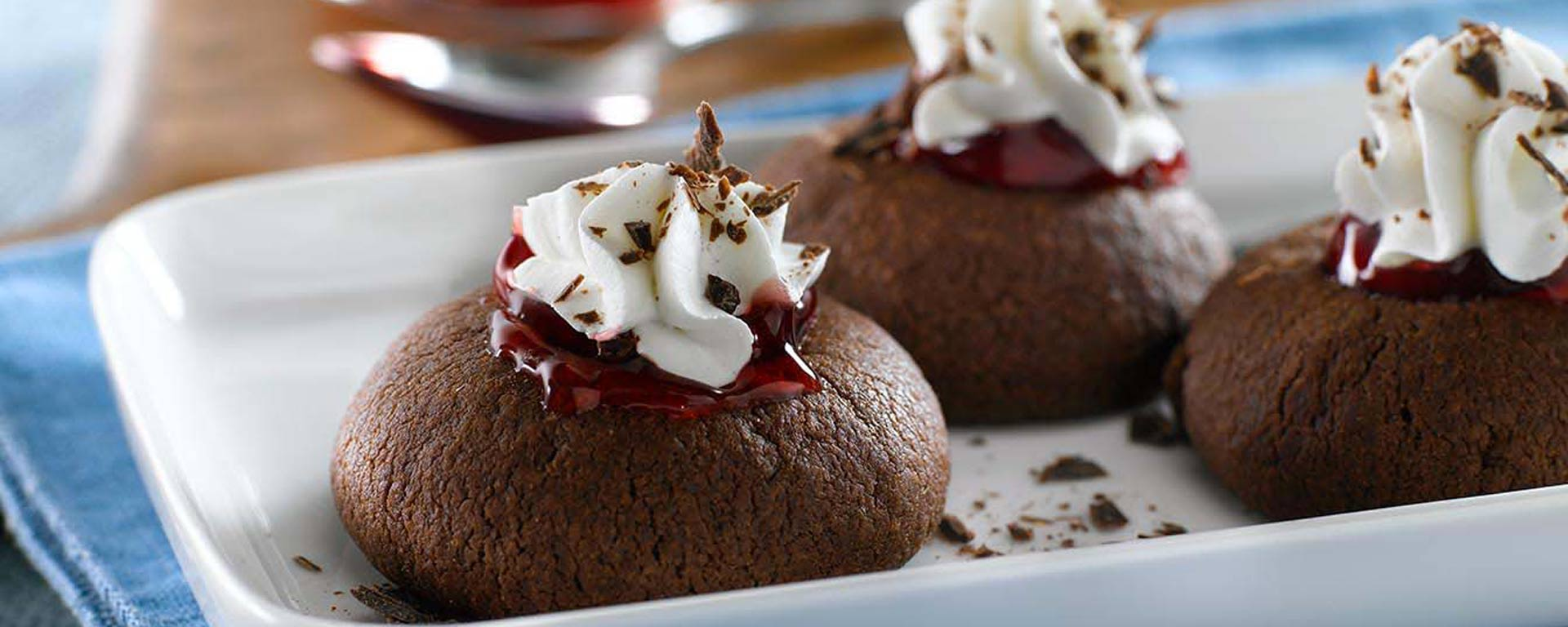 Photo for - Black Forest Thumbprint Cookies