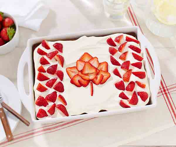 Photo of - Canada Day Strawberry Lemonade Cake