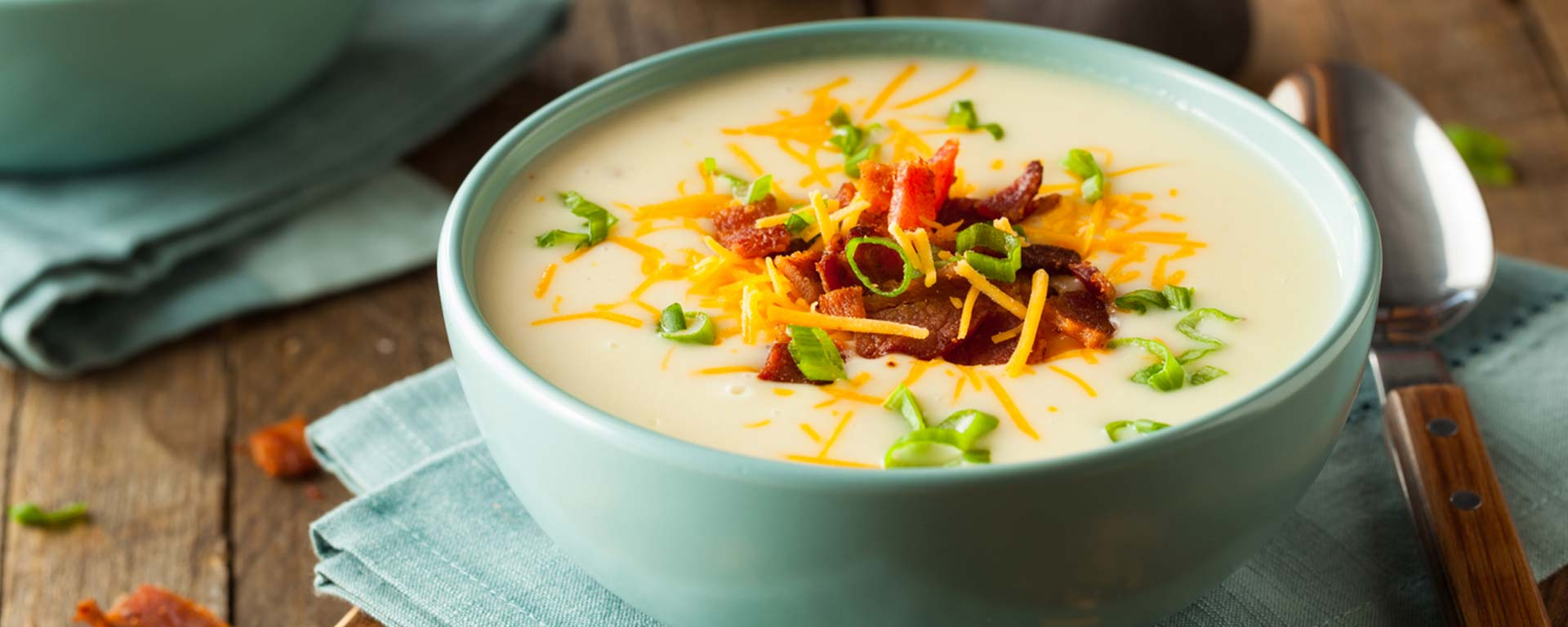 Photo for - Cheddar, Cauliflower and Potato Soup
