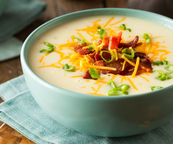 Photo of - Cheddar, Cauliflower and Potato Soup