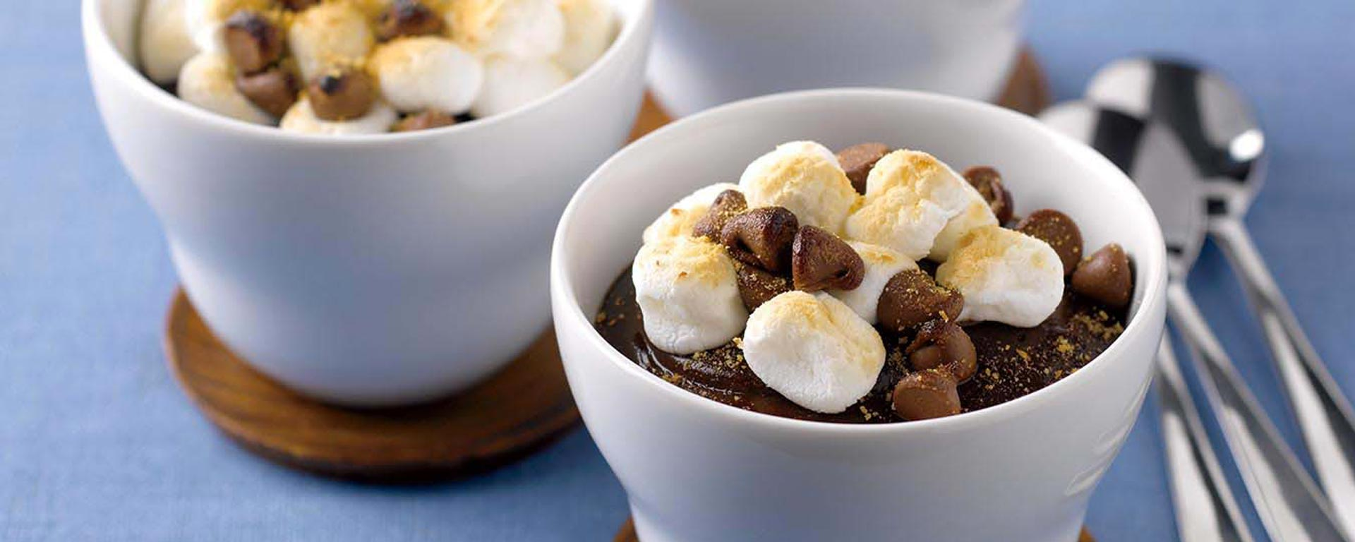 Photo for - S'mores Chocolate Pudding Cups