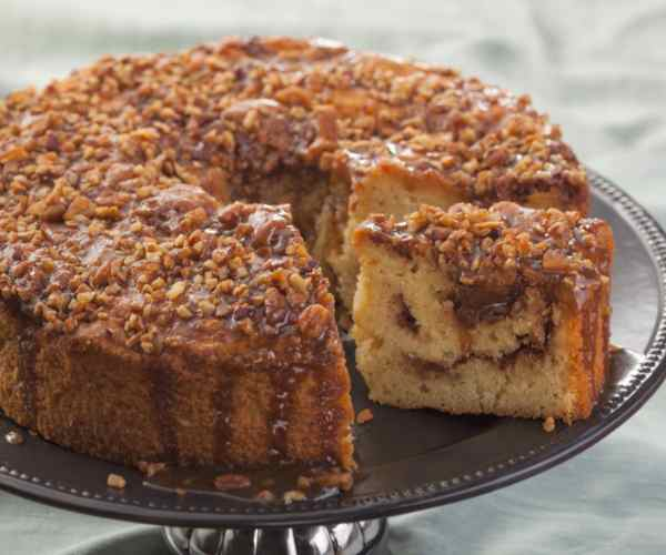 Photo of - 1960's Classic Coffee Cake with Pecans and Cinnamon