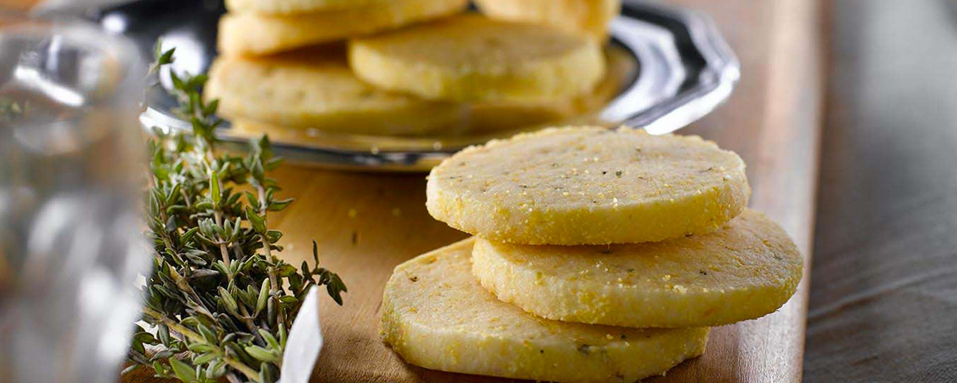 Photo of - Orange and Thyme Cornmeal Shortbread