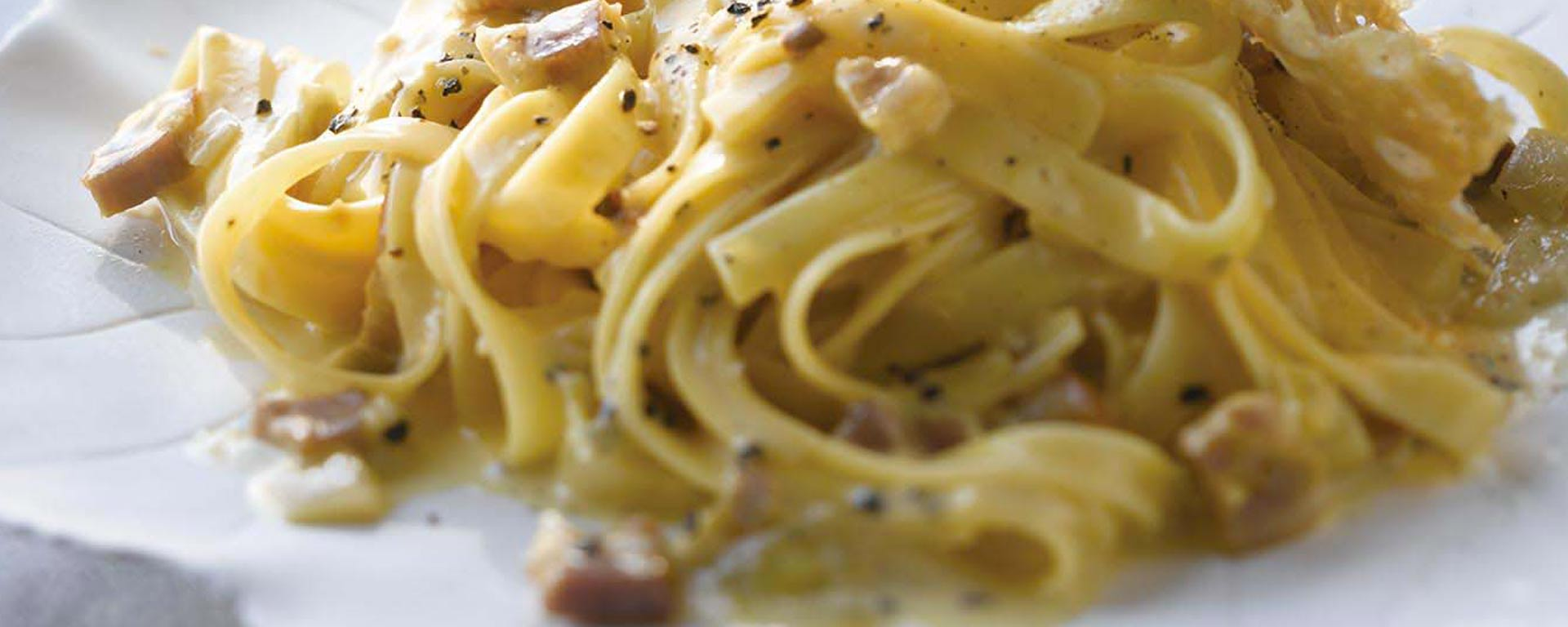 Photo for - Pasta with Pancetta Cream Sauce