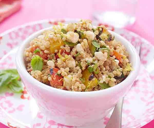 Photo of - Quinoa Salad with Grilled Vegetables and Cottage Cheese