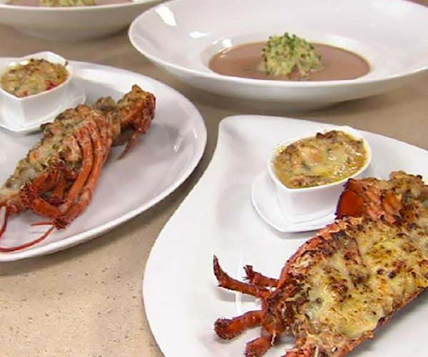 Photo of - Baked Stuffed Lobster au Gratin