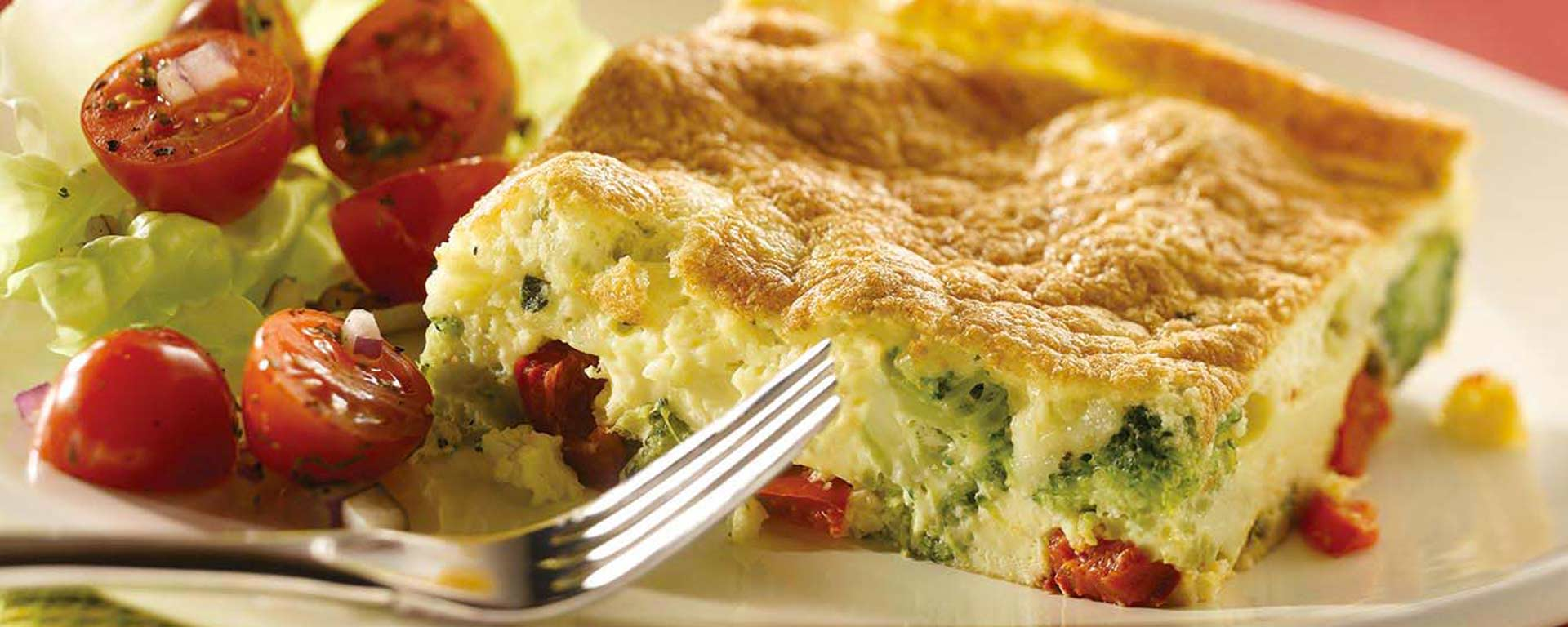 Photo for - Puffy Broccoli and Red Pepper Frittata