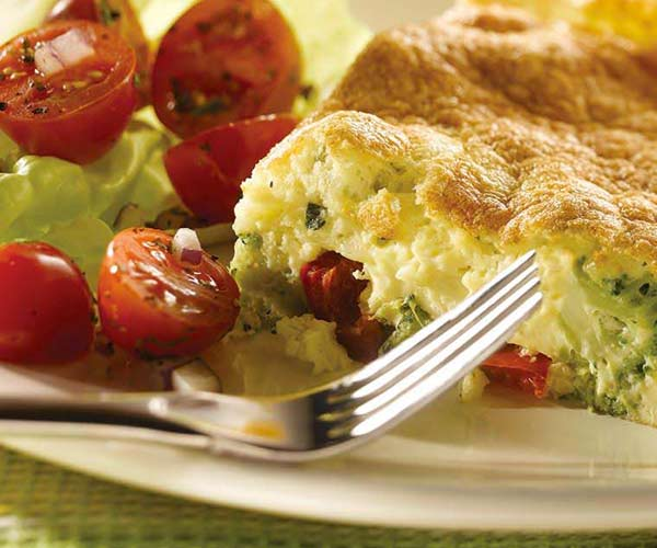 Photo of - Puffy Broccoli and Red Pepper Frittata
