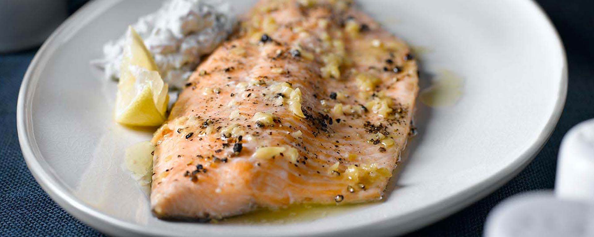 Photo for - Roasted Rainbow Trout with Creamy Cucumber Relish