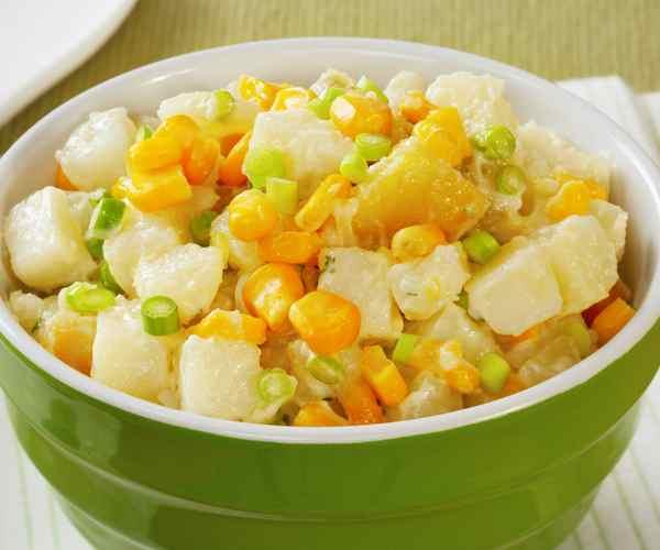 Photo of - Poêlée de maïs et de pommes de terre