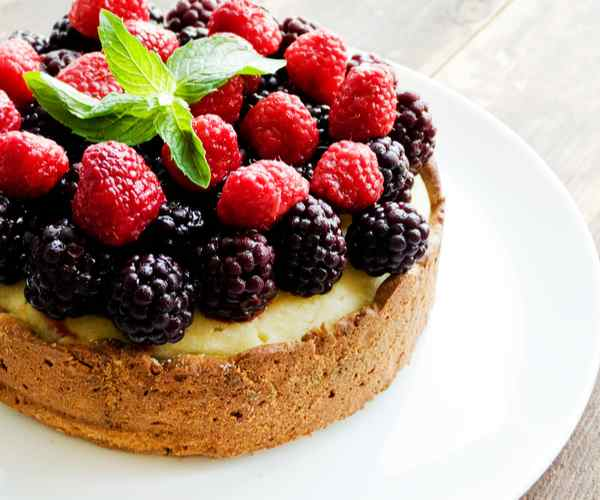 Photo of - Sour Cream Berry Cake