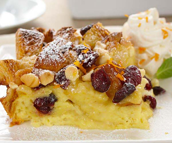 Photo of - White Chocolate Cranberry Bread Pudding