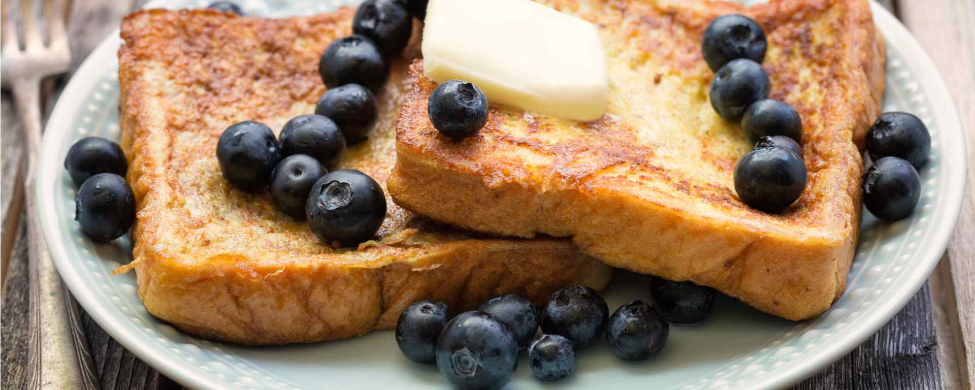 Photo for - French Toast Canapés with Blueberry Butter