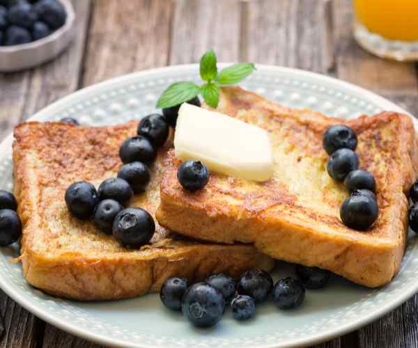 Photo of - French Toast Canapés with Blueberry Butter