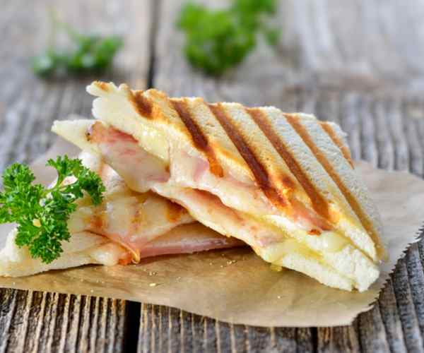 Photo of - Grilled Ham with Brie and Apple