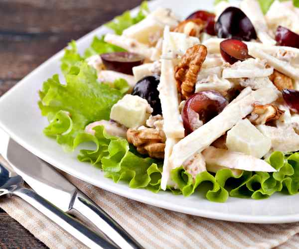Photo of - Nectarine Waldorf Salad