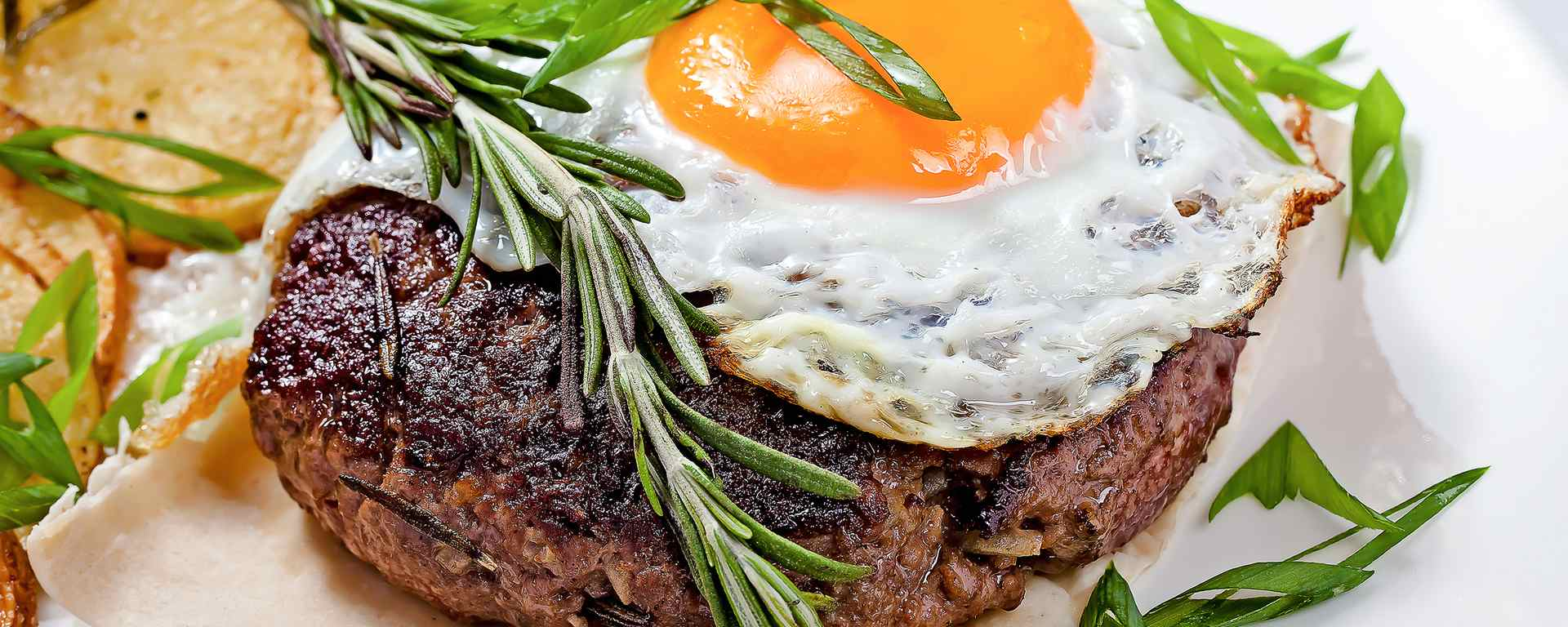 Photo for - Steak and Egg Open-Face Sandwich