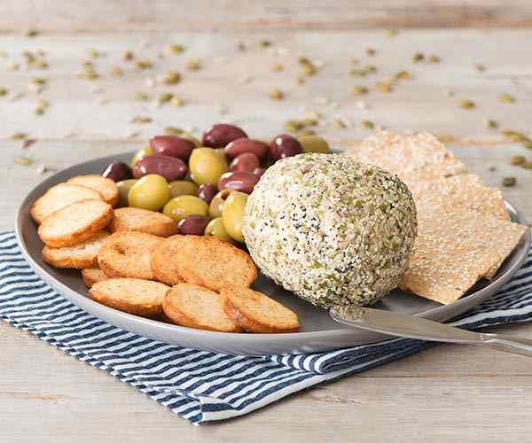 Photo of - Seed-Coated Cheese Ball