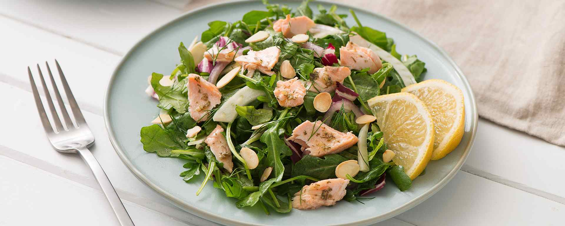 Photo for - Hot Salmon Salad with Lemon Dill and Citrus Vinaigrette