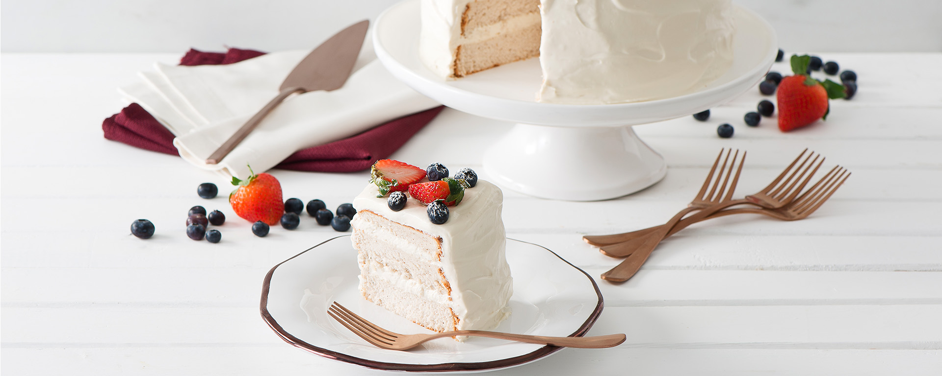 Photo for - Spiced Angel Food Cake with Sour Cream Frosting