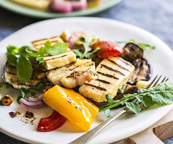 Photo of - Grilled Halloumi Cheese & Vegetable Salad