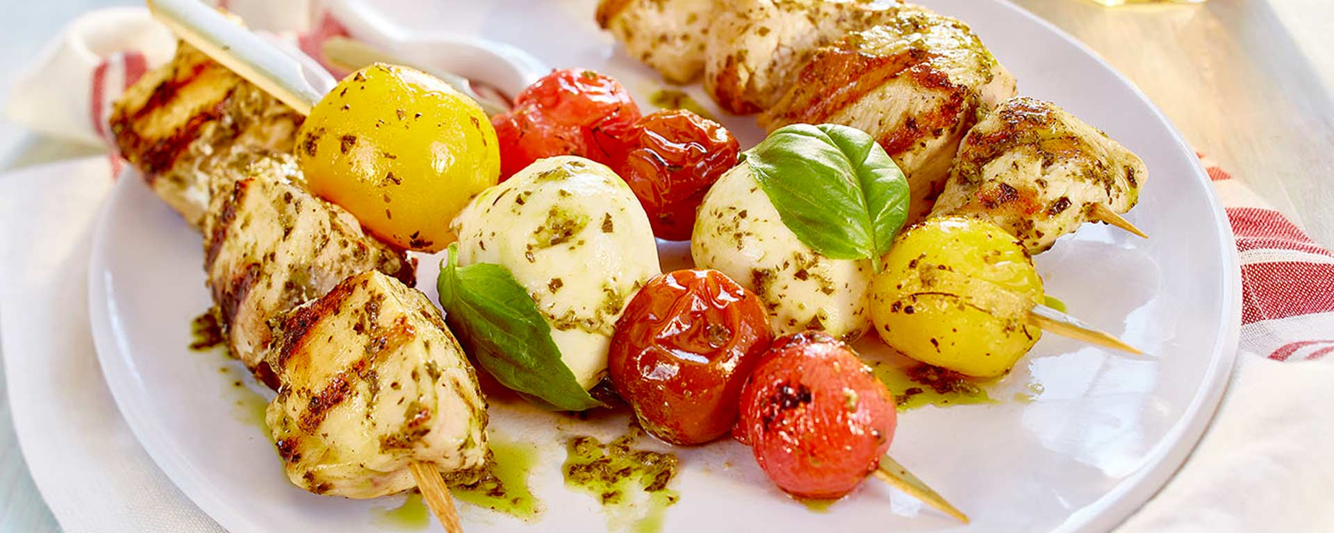 Photo for - Grilled Chicken & Caprese Skewers