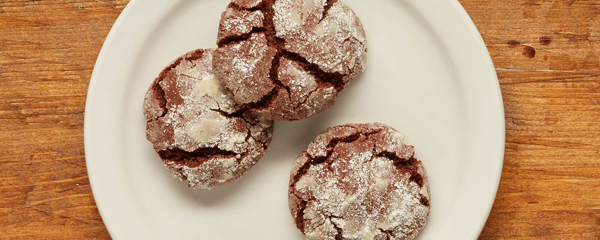 Photo for - Chocolate Chai Spiced Crinkle Cookies