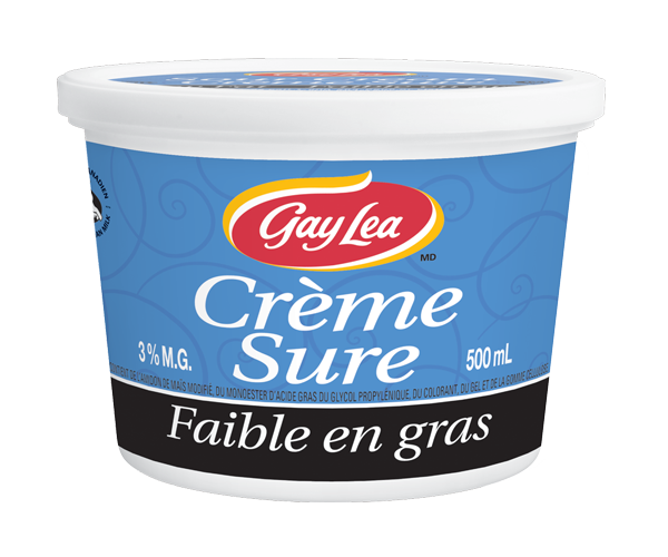 Photo of - Crème sure - Faible en matières grasses