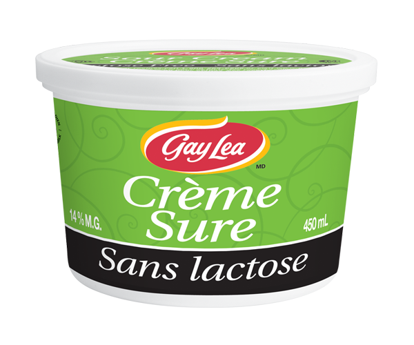 Photo of - Crème Sure - Sans Lactose à 14% M.G.