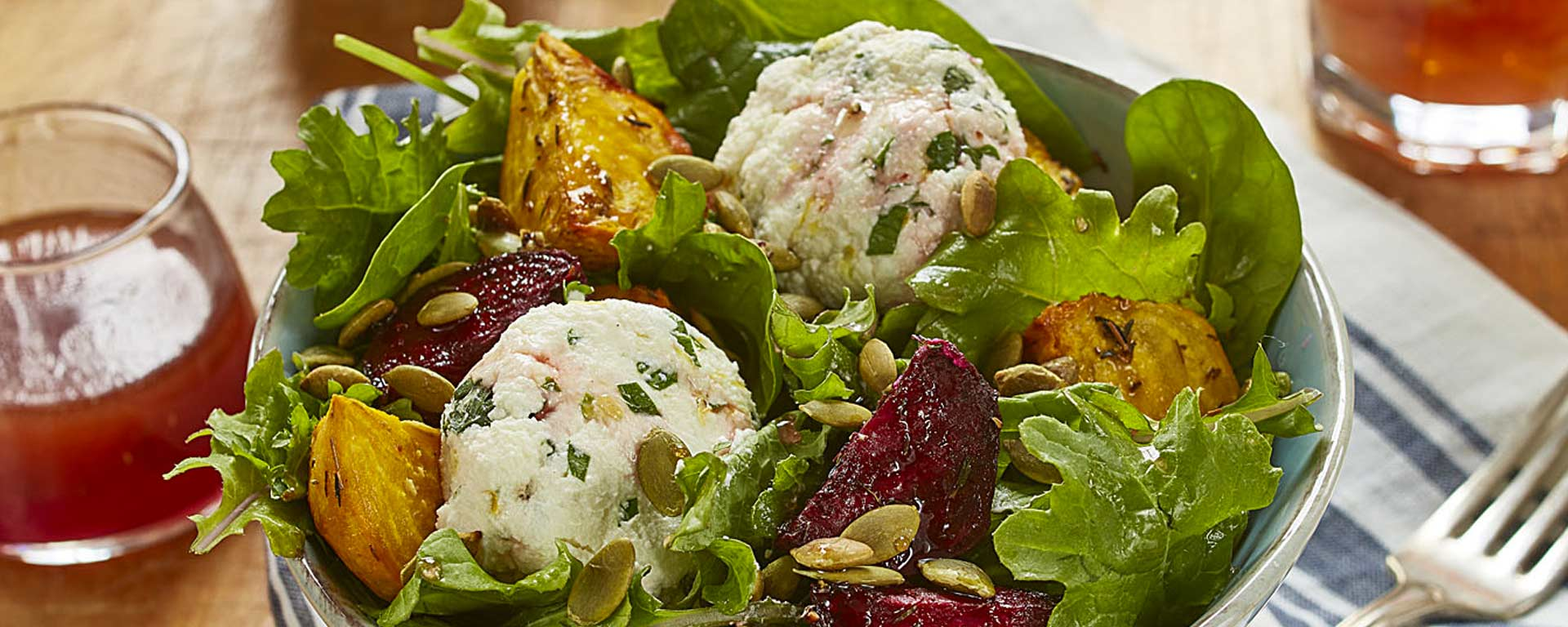 Photo for - Roasted Beets with Herbed Ricotta and Pumpkin Seeds