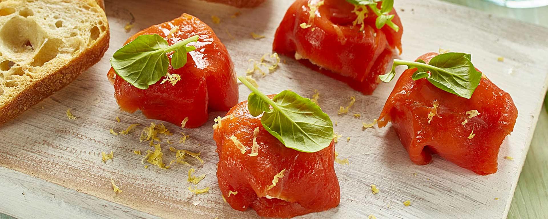 Photo for - Pochettes au saumon fumé