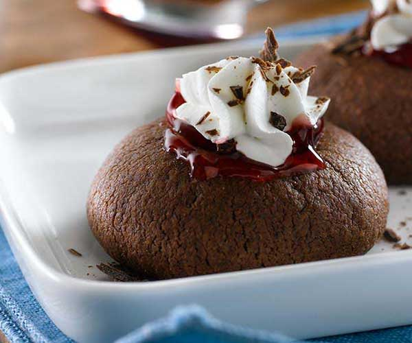 Photo of - Black Forest Thumbprint Cookies