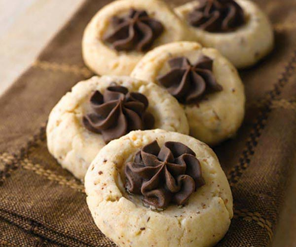 Photo of - Chocolate Thumbprint Cookies
