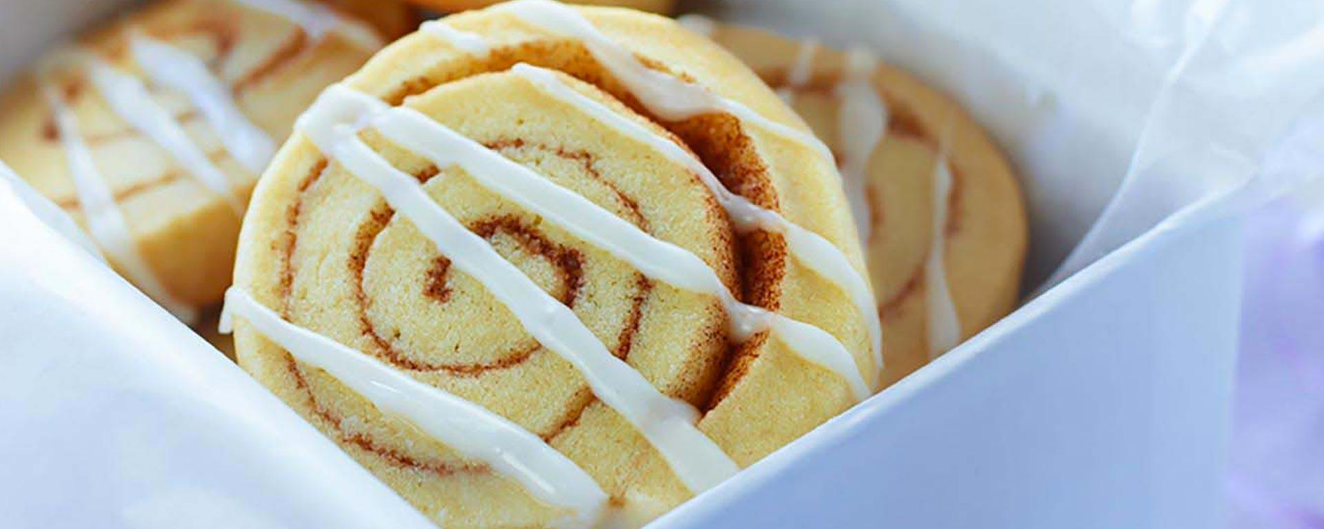 Photo for - Cinnamon Bun Swirl Shortbreads