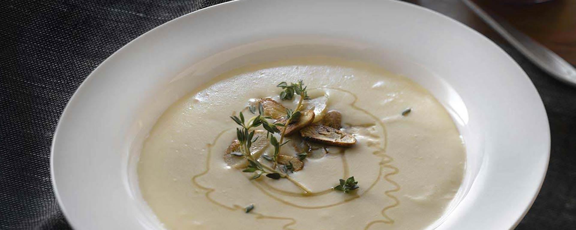 Photo for - Creamy Roasted Garlic Soup