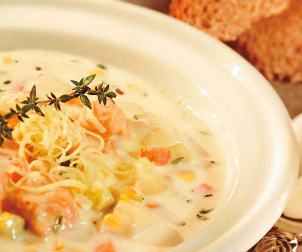 Photo of - Delicious Salmon Vegetable Chowder