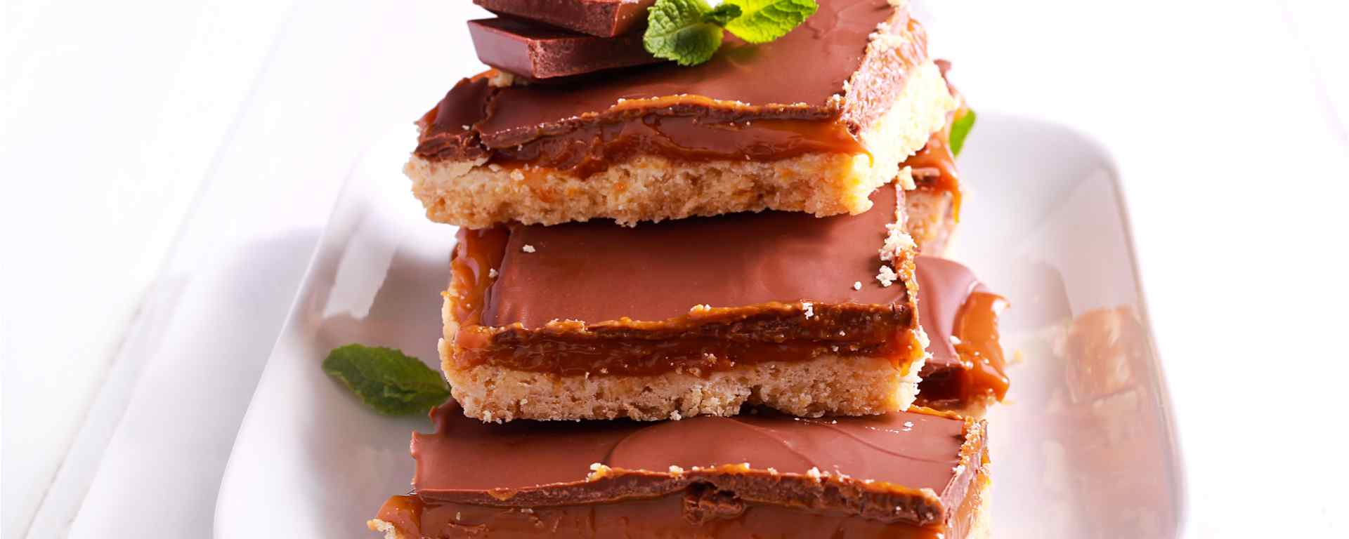 Photo for - Barres sablées au dulce de leche et au chocolat