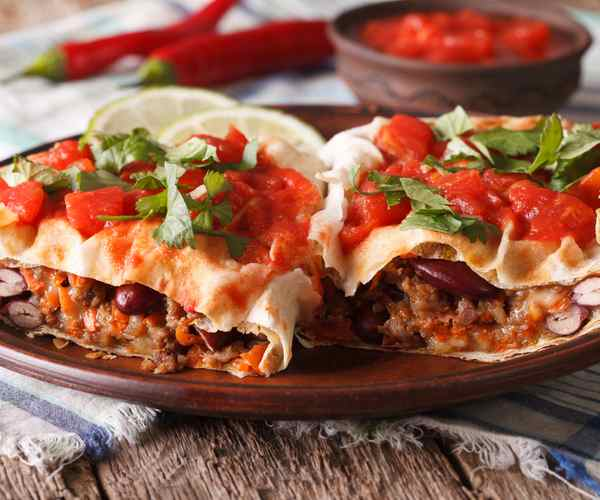 Photo of - Fiesta Chicken Burritos