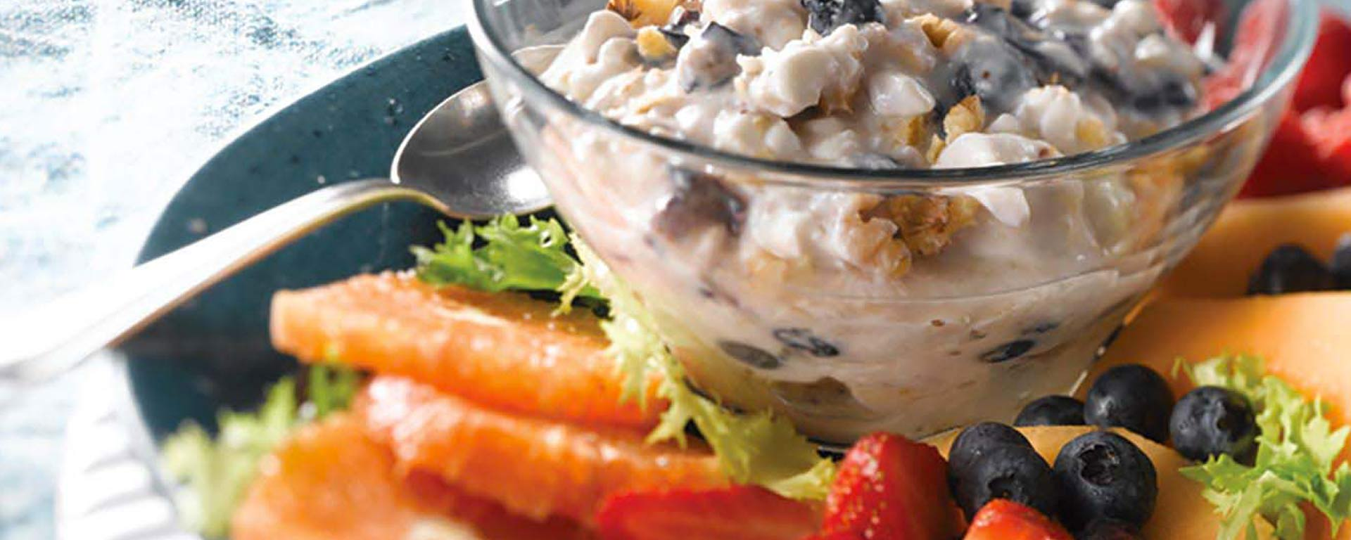 Photo for - Blueberry Ginger Cottage Cheese Fruit Salad Topper