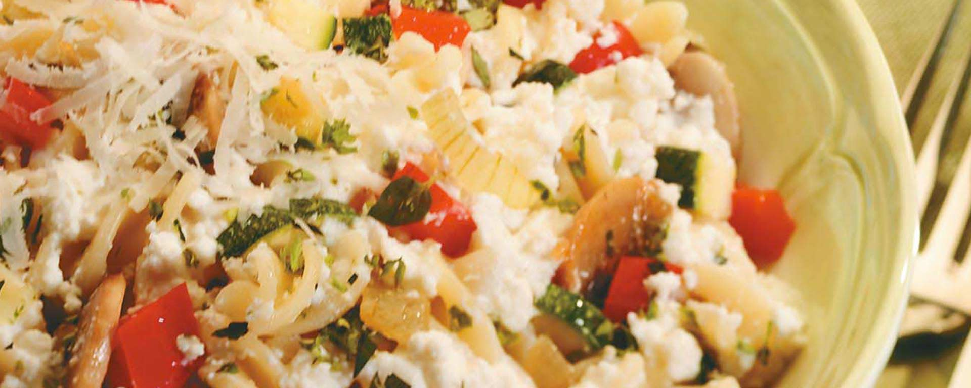 Photo for - Herbed Cottage Cheese Primavera with Pasta