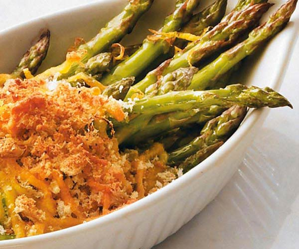Photo of - Lemon-Roasted Asparagus Gratin