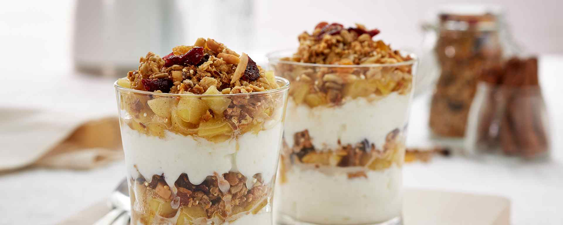 Photo for - Maple Apple Cinnamon Breakfast Parfaits